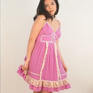 INSANE Vtg Silk Prairie Dress [S/P]